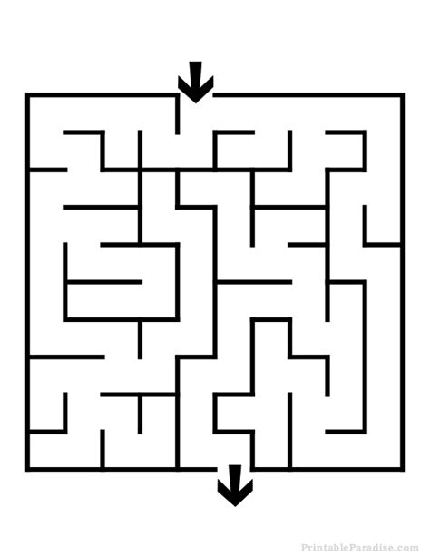 free printable maze easy printable square maze easy difficulty