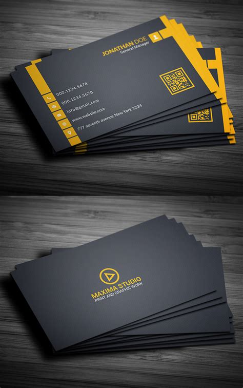 visiting card html template free business card templates freebies graphic design