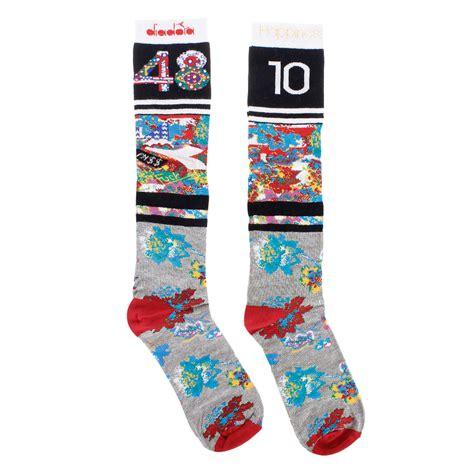pattern long socks unisex flower pattern long socks spence outlet