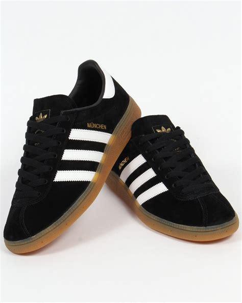 adidas munchen adidas munchen trainers black white shoes originals mens