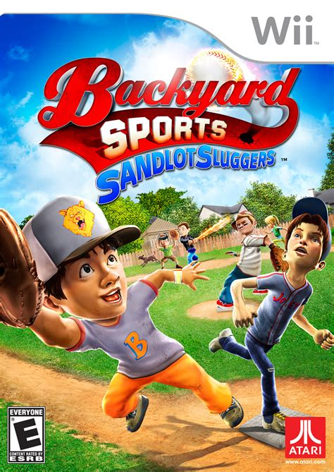 backyard sports sandlot sluggers nintendo wii game