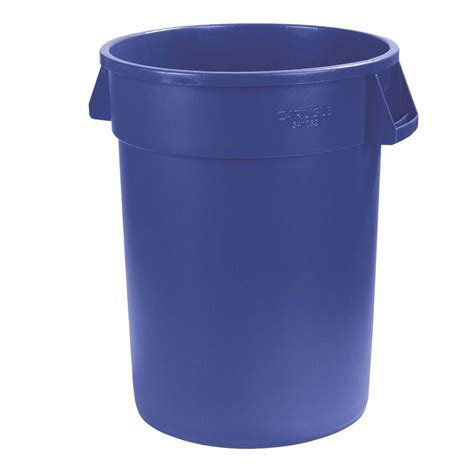 carlisle bronco 10 gal blue trash can 6 pack