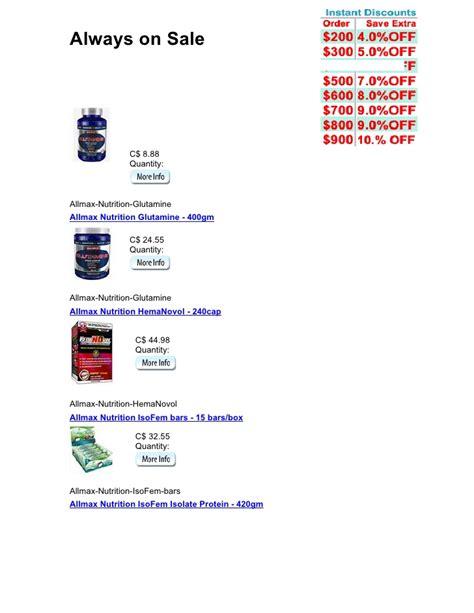 Suplemen Allmax allmax nutrition supplements