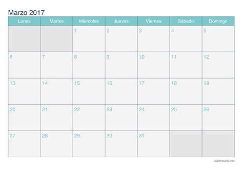 calendario 2017 para imprimir blanco calendario marzo 2017 para imprimir icalendario net