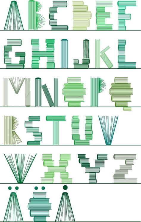 letters on books brandflakesforbreakfast a bookish font