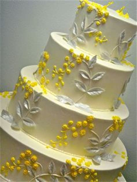 yellow and silver wedding cakes cakes yellow and white on yellow wedding