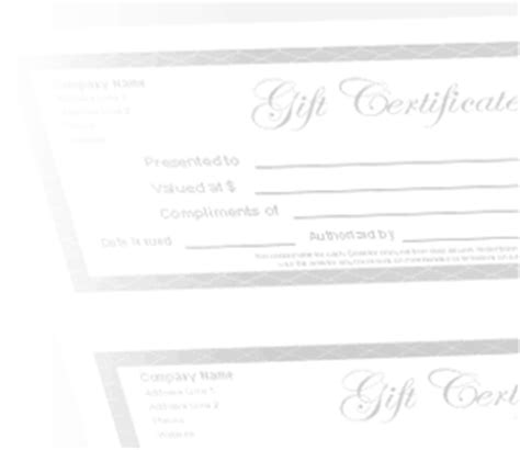 gift certificate log template free gift certificate template and tracking log