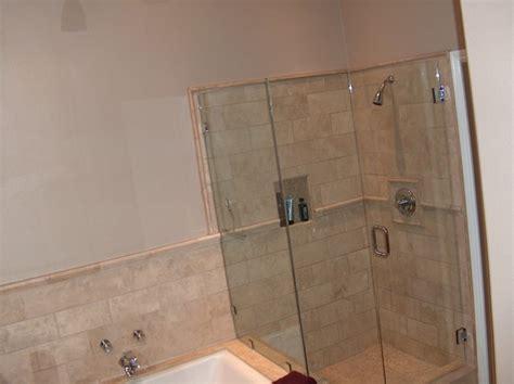 kohler frameless bathtub door kohler tub with travertine shower frameless shower doors modern bathroom orange