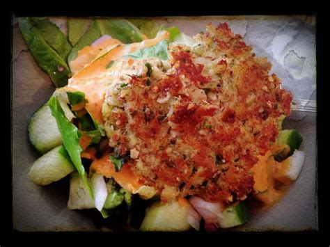 Dr Hyman 10 Day Detox Diet Principles by Cod Cake With Salad And Pepper Tahini Dressing From