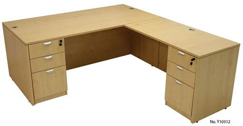 Maple Conference U Shaped Workstation With Hutch Maple L Shaped Desk
