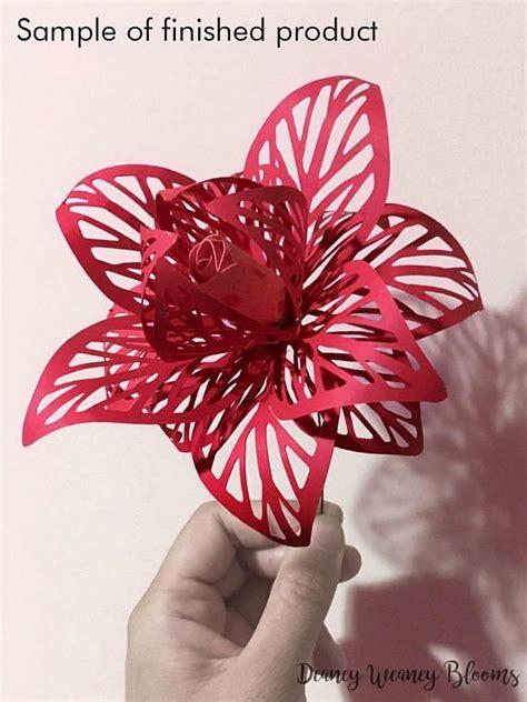 paper flower bouquet pattern anastasia paper flower svg and pdf digital template svg