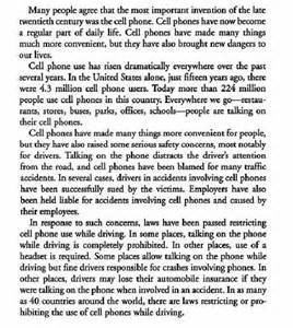 Essay About Cell Phone by Toefl Essays Wrting Integrated Task Summarize The Points Of The Reading Passage And
