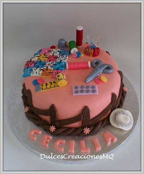imagenes bizcochos cumpleaños tarta patchwork costurero manualidades pastel torta