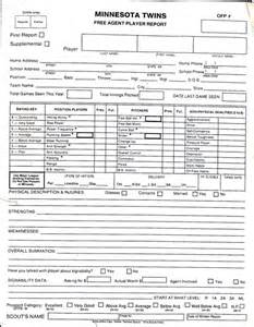 Baseball Scouting Report Template by Minnesota Pro Scouting Report