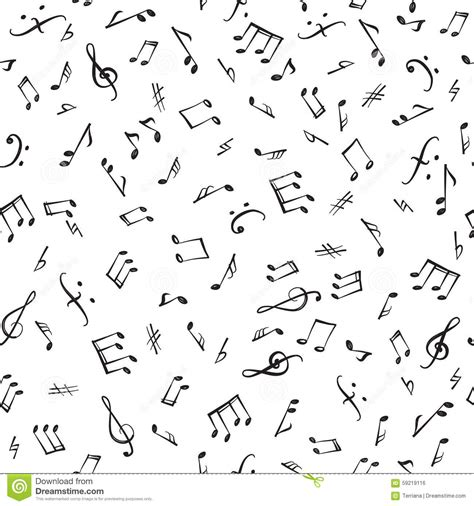 pattern of duration of notes and silences in music music notes and elements seamless pattern musical tiling