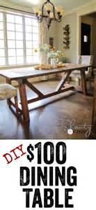 Diy Dining Room Table Plans Diy Dining Table Free Plans To Build This Restoration Hardware Table It For When My