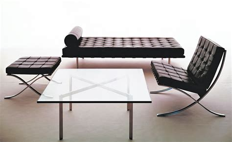 mies van der rohe desk barcelona couch with laminate straps hivemodern com