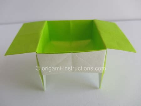 Origami Standing - origami standing container folding