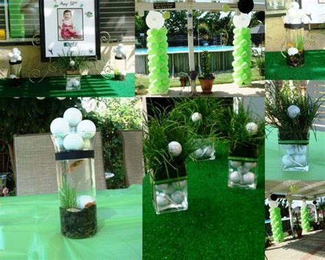 golf themed decorating ideas table decorations for golf tournaments 50th golf theme