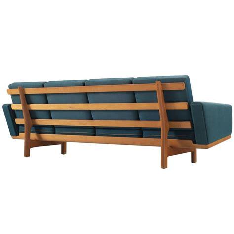 wegner sofa hans wegner sofa in oak and petrol upholstery for getama