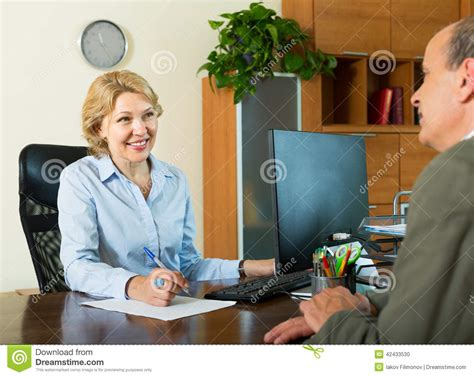 bank manager senior with bank manager stock photo image 42433530