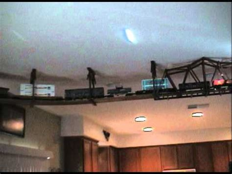 Living Room Train Layout | o scale ceiling train living room layout youtube