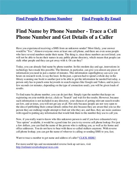 Search For Email By Name Find Name By Phone Number Trace A Cell Phone Number And Get Details