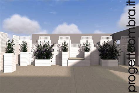 progetto terrazzo grigliati e pergole su progetto per terrazzi
