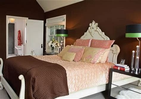 chocolate brown master bedroom rose petals and rust brown