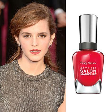 emma watson nails emma watson s bold red lip next level nails how to
