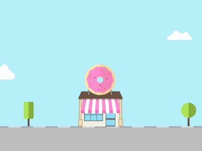 love donuts gif  davide baratta dribbble dribbble