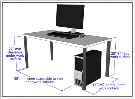 standard computer desk height learning spaces accessibility guidelines accessible