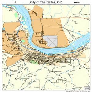 city of the dalles oregon map 4113425