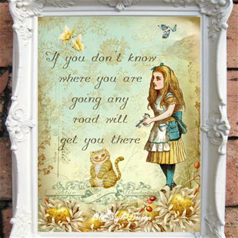 Wooden Drink Coaster by Alice In Wonderland Quote Art Print Alice From Oldstyledesign