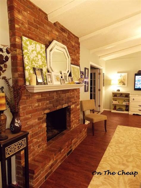 Pictures Of Brick Fireplaces With Mantels by Brick Fireplace White Mantel Home Sweet Home