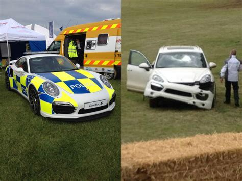 Porsche Crash by Porsche Live At Goodwood 2014 Cayenne Crash And 911 Turbo