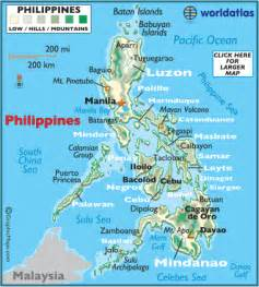 Philippines World Map by Philippines Map Geography Of Philippines Map Of