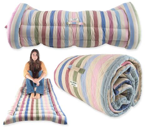 roll out bed an occasional place to rest roll out bed sleeping bag by bill brown