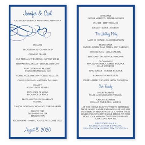 Wedding Program Template Play Program Template Word
