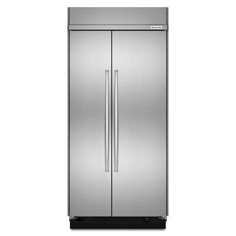 42 Refrigerator Door by Kitchenaid 42 In W 25 5 Cu Ft Built In Side By Side