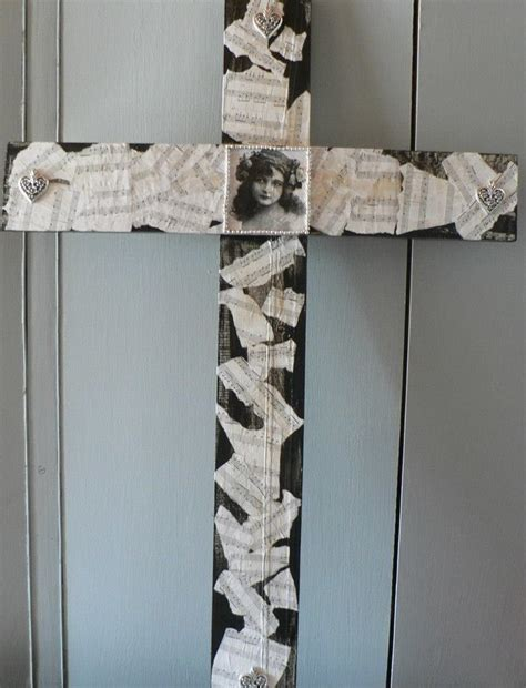 Decoupage Crosses - decoupage wooden cross cheryl s crafts