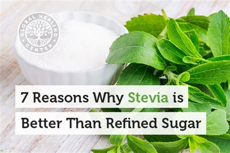 7 Reasons Is Better Than by 7 Reasons Why Stevia Is Better Than Refined Sugar