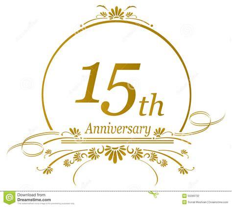 15th anniversary 15th anniversary design vector stock vector