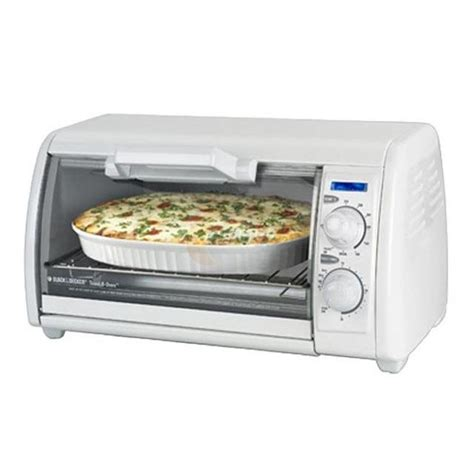 Toaster Oven With Toaster On Top Black Decker Toast R Oven 4 Slice Countertop Toaster Oven