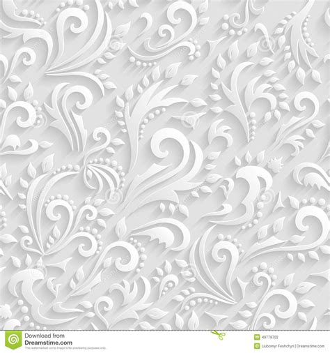 wedding background texture vector floral seamless background origami 3d