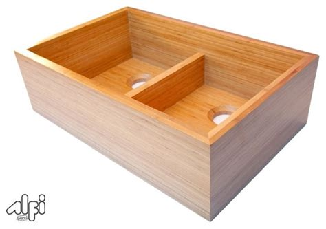 Bamboo Kitchen Sink Bamboo Farm Sinks Kitchen Sinks Los Angeles By Blue Bath