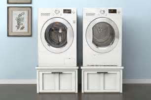 pedestal for washer dryer washer dryer pedestals with storage buildsomething