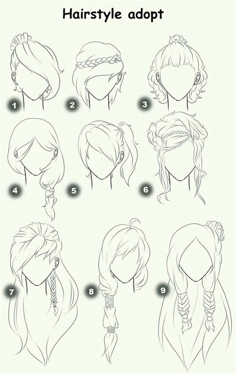 anime hairstyles sketch hairstyle adopt text woman girl hairstyles how to