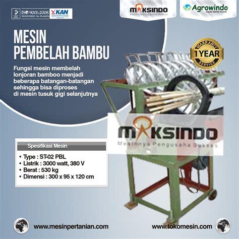 Mesin Perajang Bambu mesin tusuk gigi paket komplit mesinpertanian