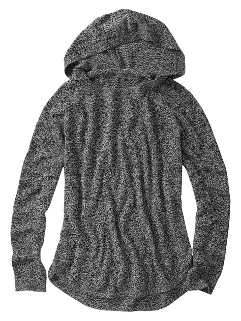 Sweater Hodie Gender 55 gap marled hoodie sweater in gray true black lyst